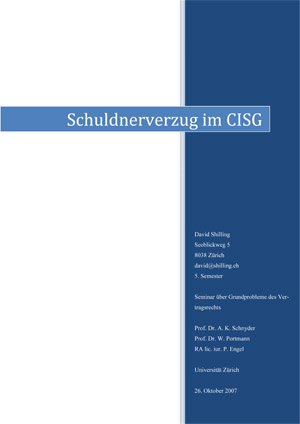 Schuldnerverzug im CISG