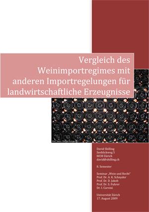 Vergleich des Weinimportregimes mit anderen Importregelungen für landwirtschaftliche Erzeugnisse